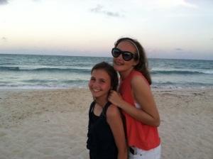 Emily on beach