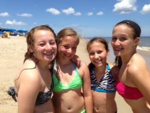 girls at beach 2013