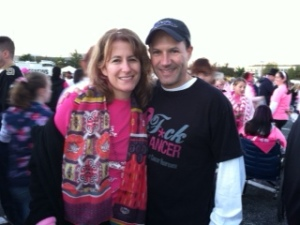 Deb and me at race