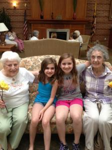 girls and grandma