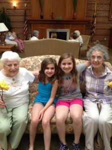 girls and grandma