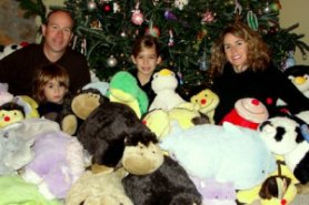 McFarland family with pillow pets