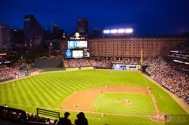 camden yards at night