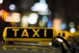 picture of taxi sign