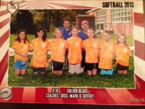 emily softball team pic