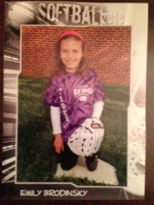 emily softball young pic