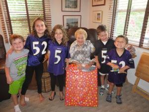 sylvia and her greatgrandchildren