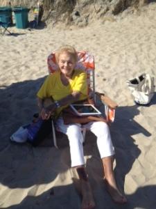 sylvia on the beach