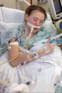 Ashely in ICU